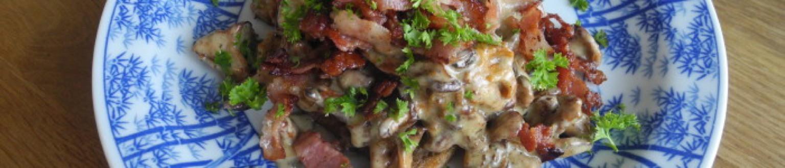 Kantarelltoast med bacon