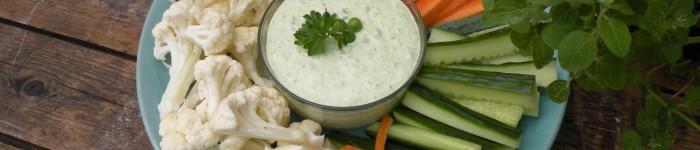 Ärtdipp med grönsaker