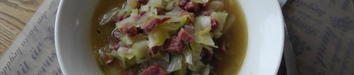 Vitkålssoppa med rimmat kött