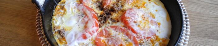 Omelett med rest av tacofärs