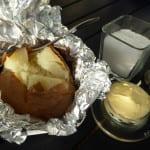 bakad potatis salt smör