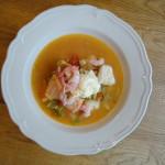 soppa på hemgjord buljong