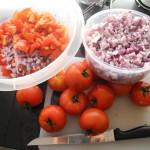 tomatsallad svenska tomater rödlök Ågården