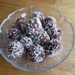 chokladboll i skål