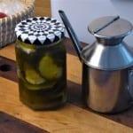 inlagd grillad zucchini olivolja