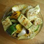 x grillade marinerade grönsaker