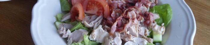 Mat för en: Kycklingsallad med currydressing