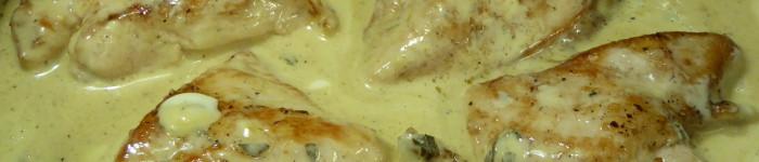 Kycklingfilé med senaps- och dragonsås