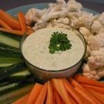 grönsaker med ärtdipp