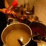 mild soppa på spis hot pot