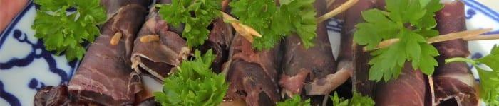 Rökt kött med oliver