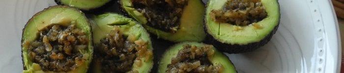 Tapas: Auberginefylld avokado