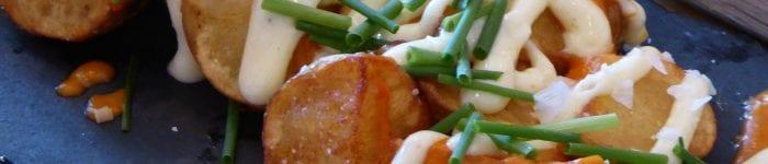 Tapas: Friterad potatis, patatas bravas