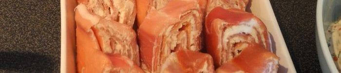 Skinkrullar med färskost