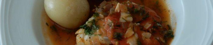 Torskfilé med krondill och tomat