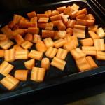 Ugnsrostade morötter making 1