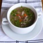 soppa på kycklingbuljong